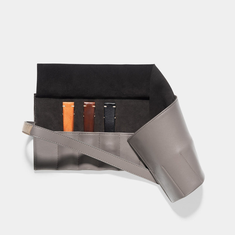 Curated 3 Leather Watch Strap Set