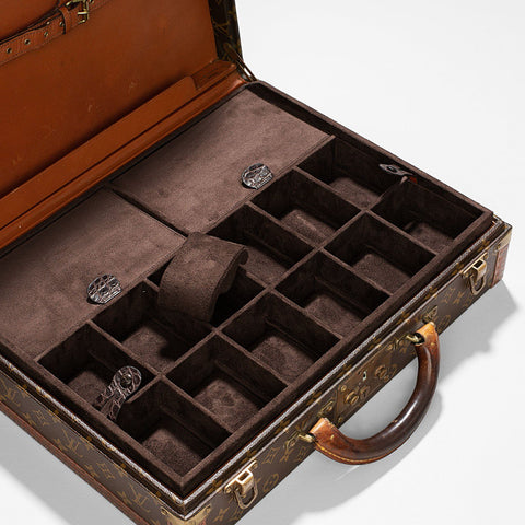 Custom Louis Vuitton 12 Watch President Briefcase