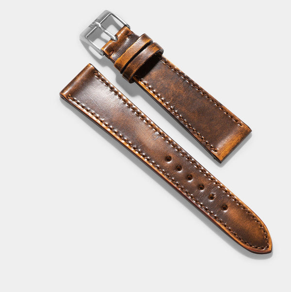 Degrade Honey Brown Leather Watch Strap
