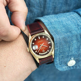 Degrade Chilli Red Leather Watch Strap