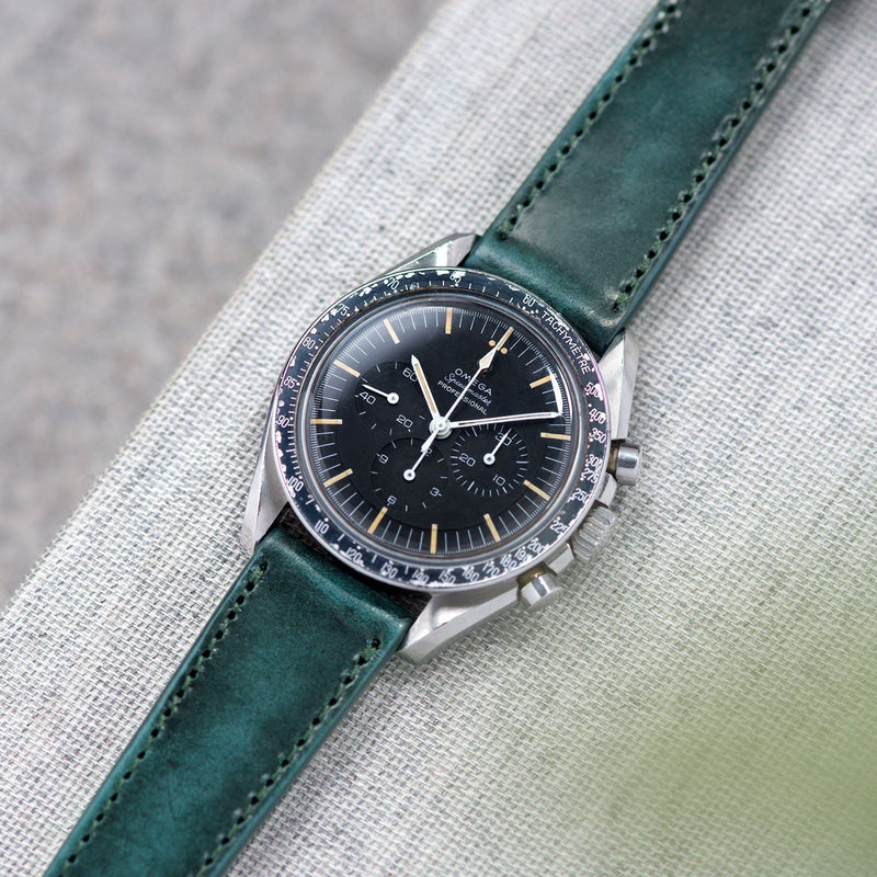 Degrade Copper Green Leather Watch Strap