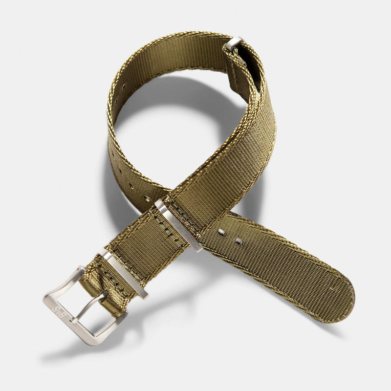 Deluxe Nylon Nato Watch Strap Olive Drab Green