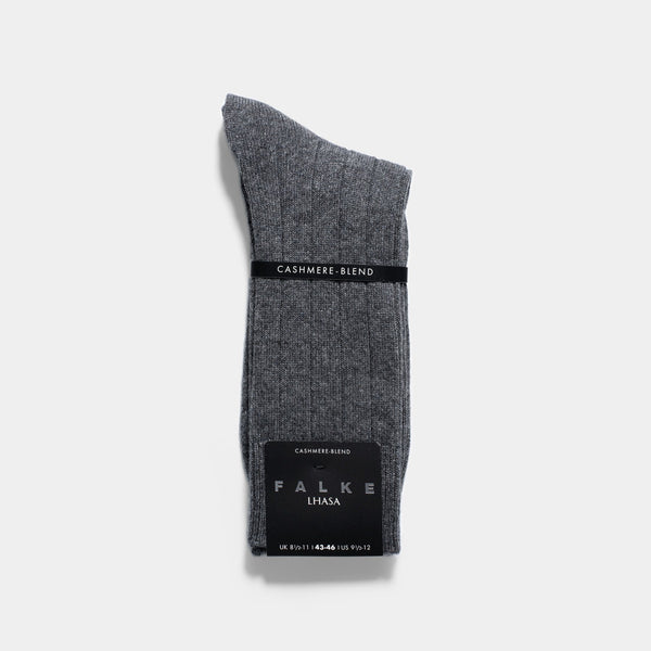 Falke Lhasa Light Grey Cashmere Rib Socks