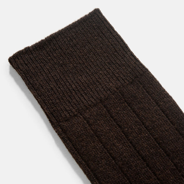 Falke Lhasa Brown Casmere Rib Socks 3