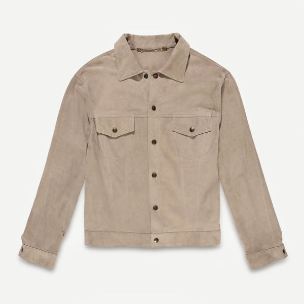 Fortela Fort19 Grey Suede Jacket