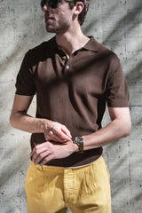 Fortela Piquet Polo Peck Brown