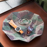 Grey Camo Diamond Suede Tray