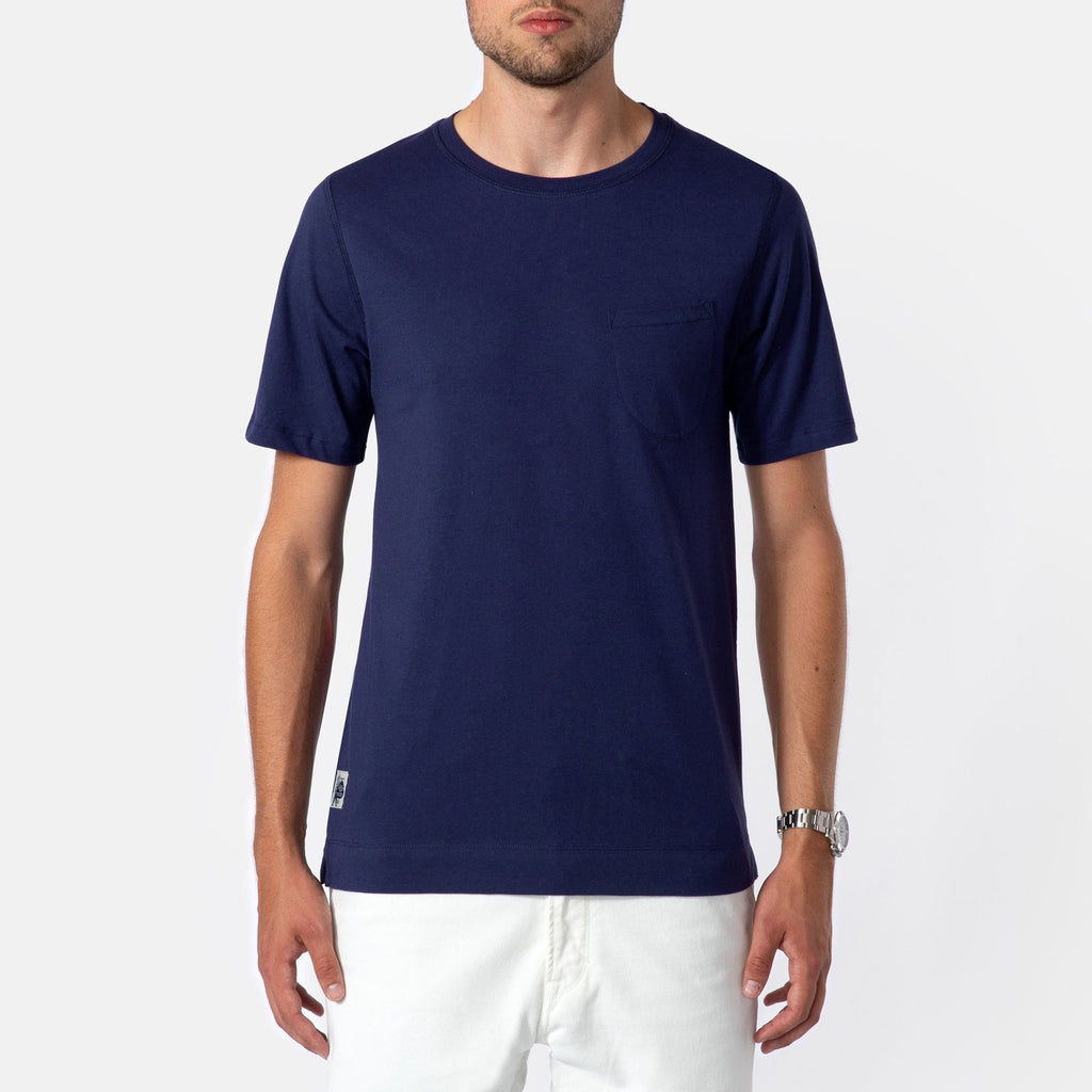 Grivec Bros Curved Pocket T-Shirt Eclipse Blue