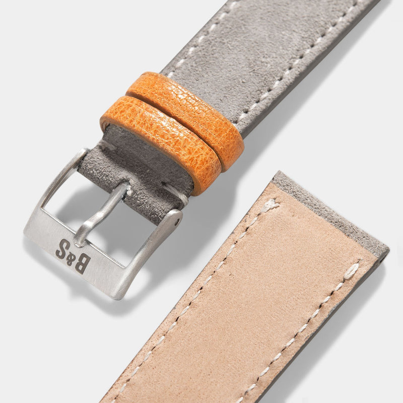 Harbor Grey Silky Suede Leather Watch Strap