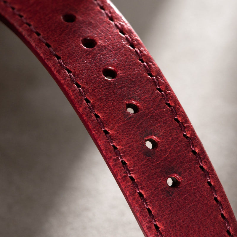 Chimney Red Leather Watch Strap
