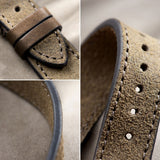 Dark Grey Rugged Leather Watch Strap
