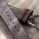 Refined Dark Grey Suede Watch Strap