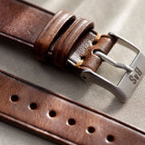Siena Brown Extra Thin Leather Watch Strap