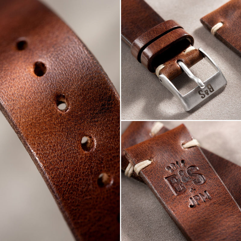 Siena Brown Leather Watch Strap