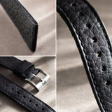 TAURILLON BLACK SPEEDY LEATHER WATCH STRAP - CHANGE IT