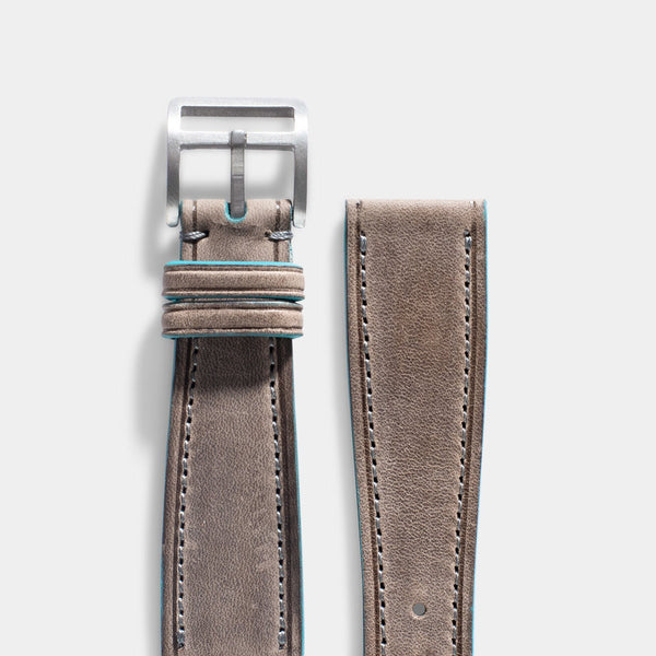 Baie des Anges Grey Leather Watch Strap
