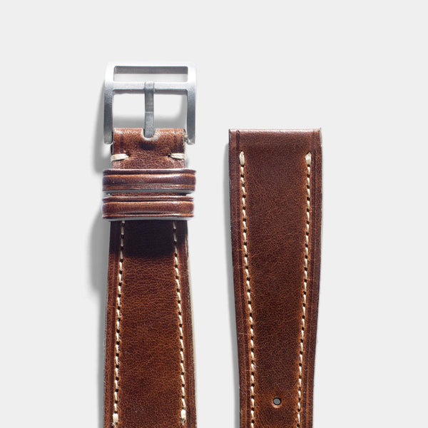 Le Métropolitain Brown Leather Watch Strap