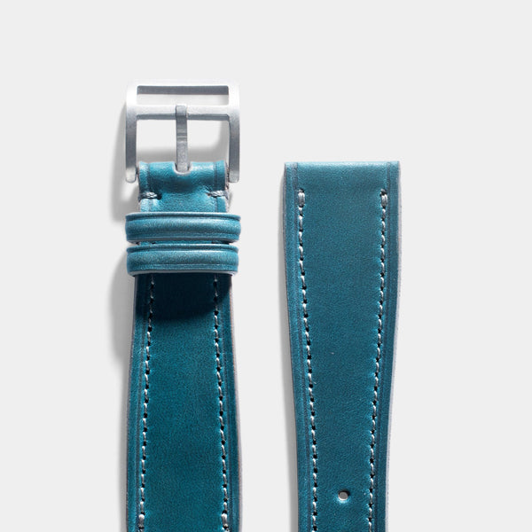 Château de Cassis Blue Horween Leather Watch Strap
