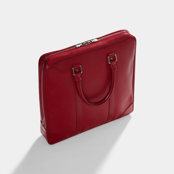 Louis Vuitton Red Epi Leather Business Bag