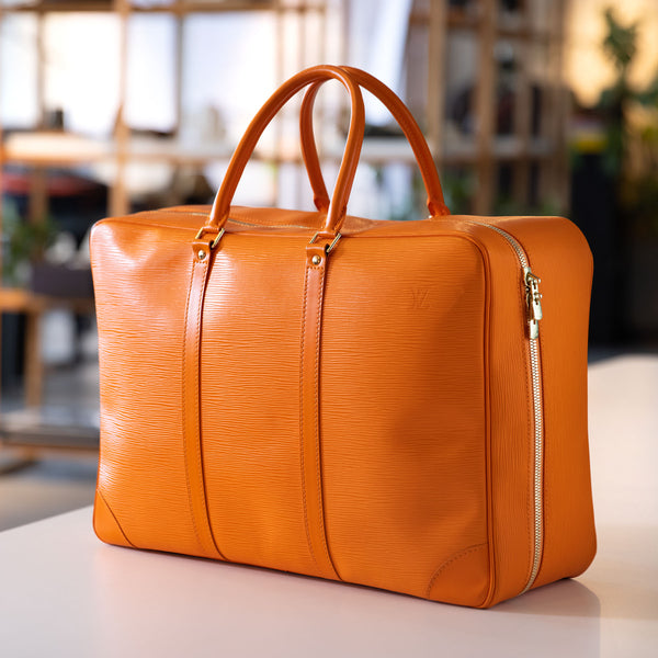 Louis Vuitton Sirius 45 Orange Epi Leather Travel Bag