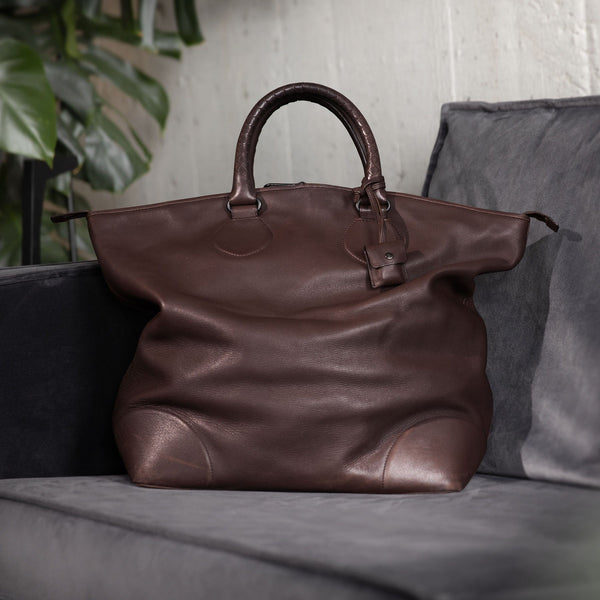 Bottega Veneta Brown Intrecciato Weekender