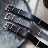 Deluxe Nylon Nato Watch Strap Pure Black