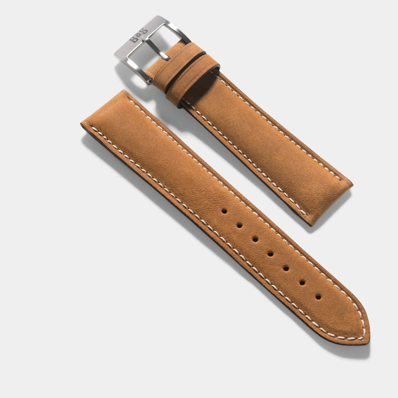 Mountain Brown Leather Watch Strap