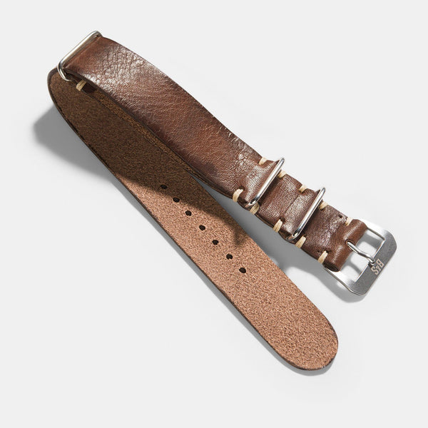 Lumberjack Brown Nato Leather Watch Strap