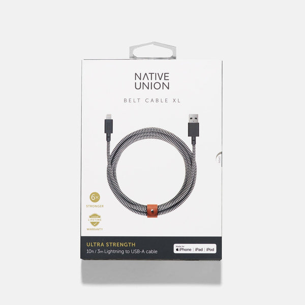 Native Union Belt Cable XL Zebra