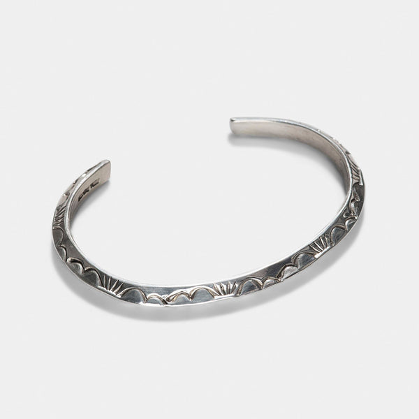 Navajo Edged Silver Cuff