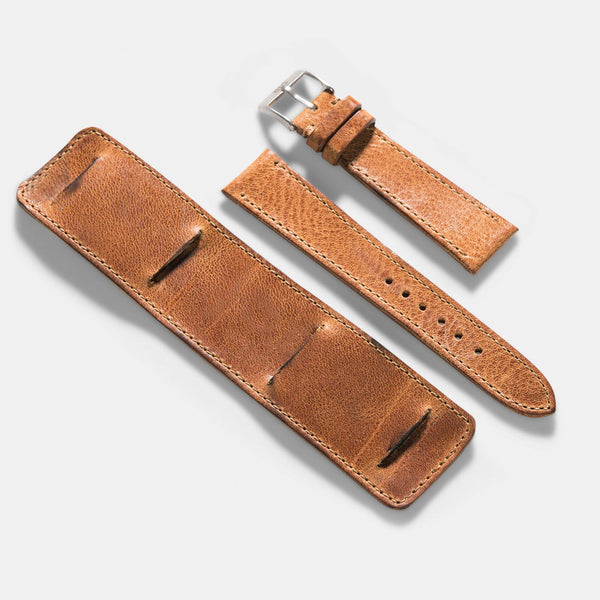 Newman Faccio Brown Leather Watch Strap