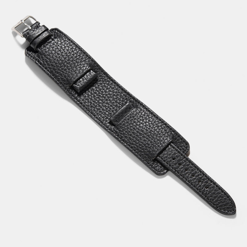 Newman Rich Black Leather Watch Strap