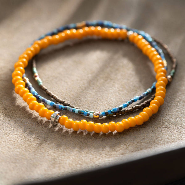 Oskar Gydell Large Orange Seed Beads Bracelet