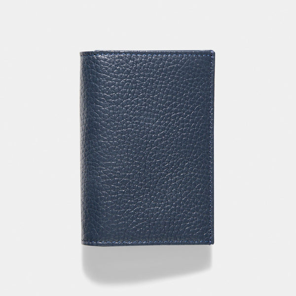 Oxford Blue Luxury Leather Bi-Fold Card Holder