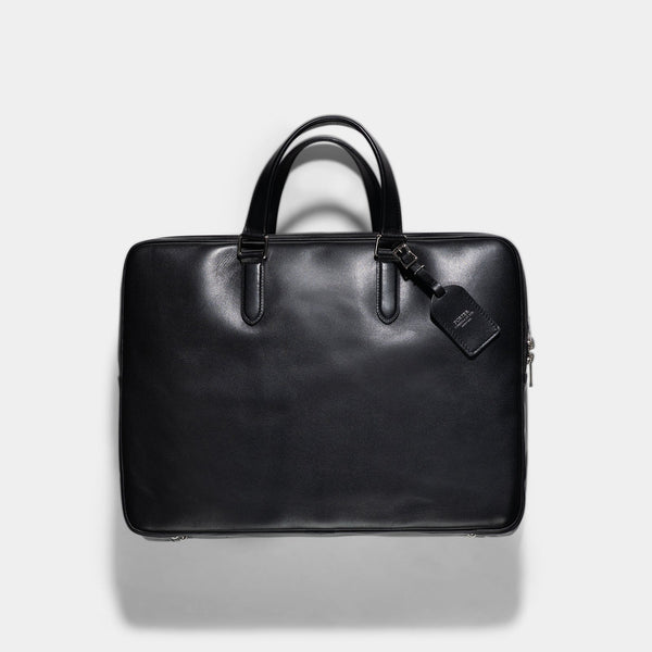 Porter Black Leather Sort 2Way Briefcase