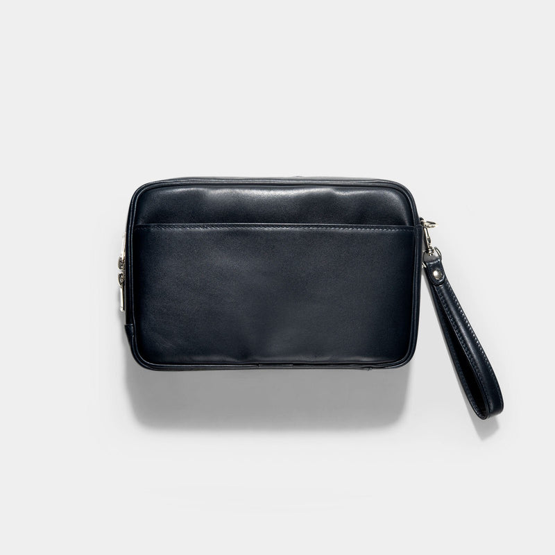 Porter Blue Leather Sort Pouch