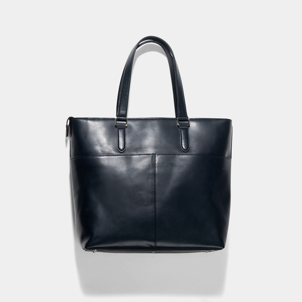 Porter Blue Leather Sort Tote Bag