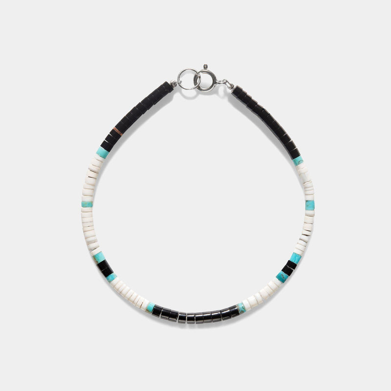 Pueblo Turquoise And Shell Bracelet