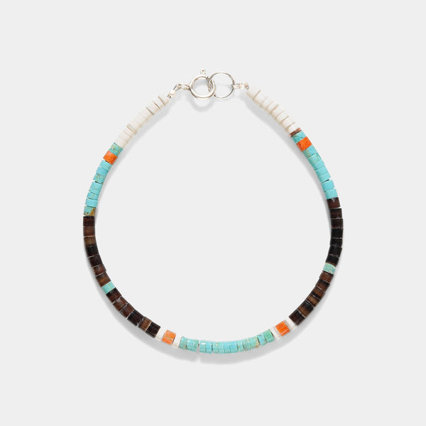 Pueblo Turquoise And Gorgone Bracelet