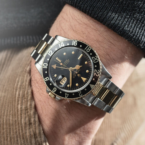 Rolex 16753 Black Nipple Dial GMT Master