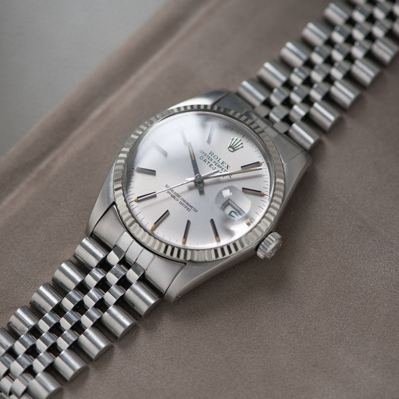 Rolex Datejust Silver Grey 16014 With Papers