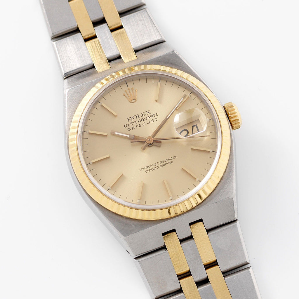 Rolex Oysterquartz Datejust Champagne Dial 17013