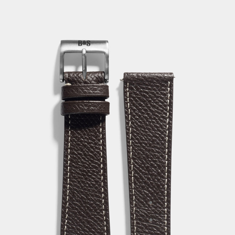 Sellier Ebène Brown Leather Watch Strap Change it
