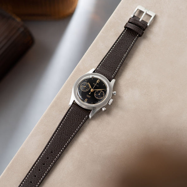 Sellier Ebène Brown Leather Watch Strap