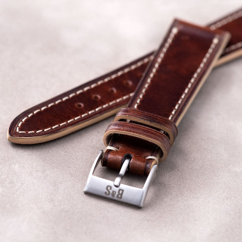 Siena Brown Retro Leather Watch Strap