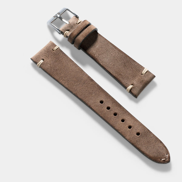 Smoke Grey Leather Watch Strap