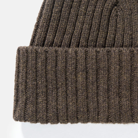 Sunspel Lambswool Rib Hat Military Green 2