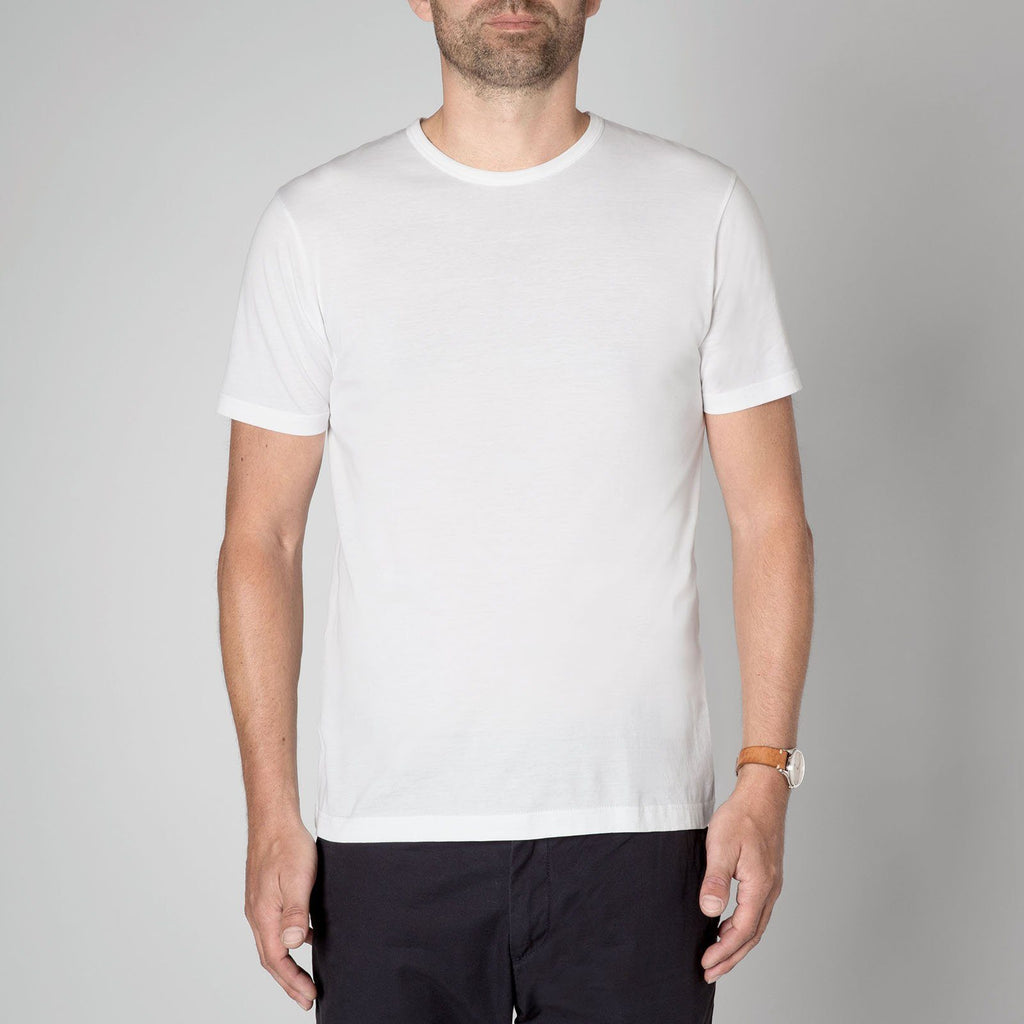 Sunspel Men's Classic White Cotton T-Shirt