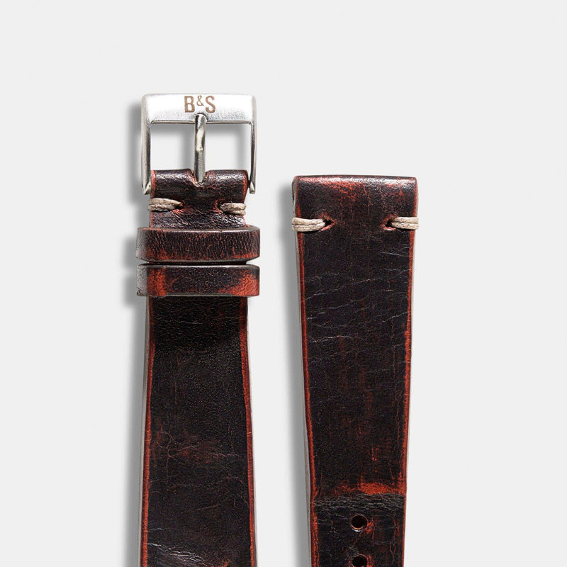 Diablo Black Leather Watch Strap