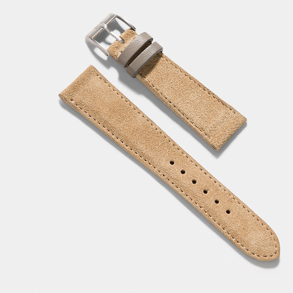 Refined Light Brown Suede Watch Strap